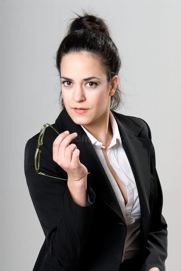 女实业家纵向 图库摄影