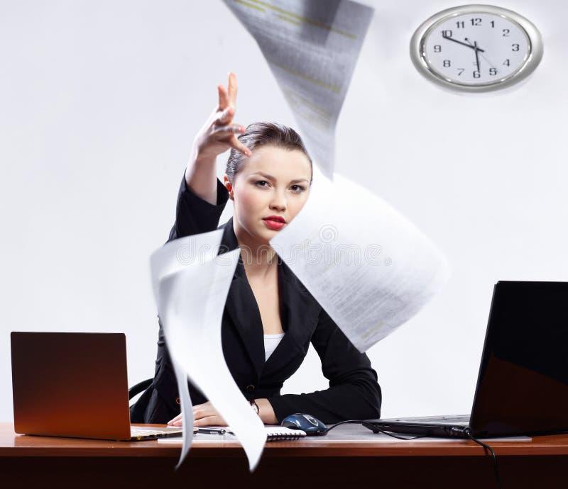 女实业家膝上型计算机二 免版税库存图片