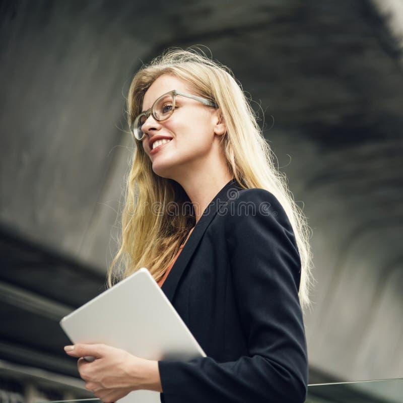 女实业家视觉战略方式批转概念 免版税库存照片
