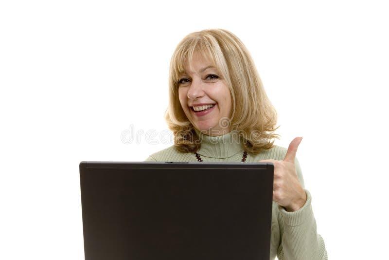 女实业家赞许 免版税库存图片