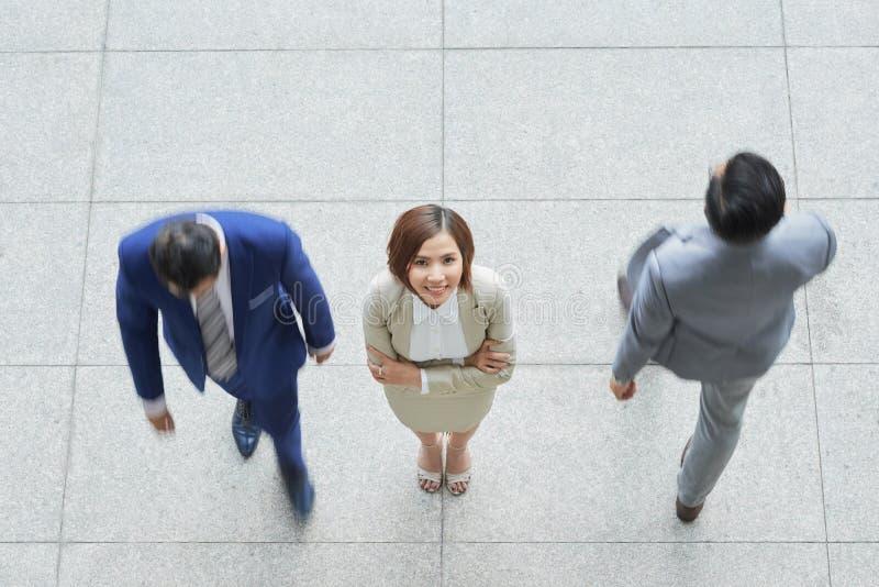 女实业家身分在办公室 库存照片