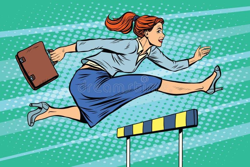 女实业家连续障碍 向量例证