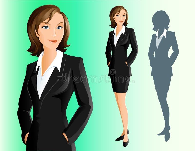 女实业家 向量例证
