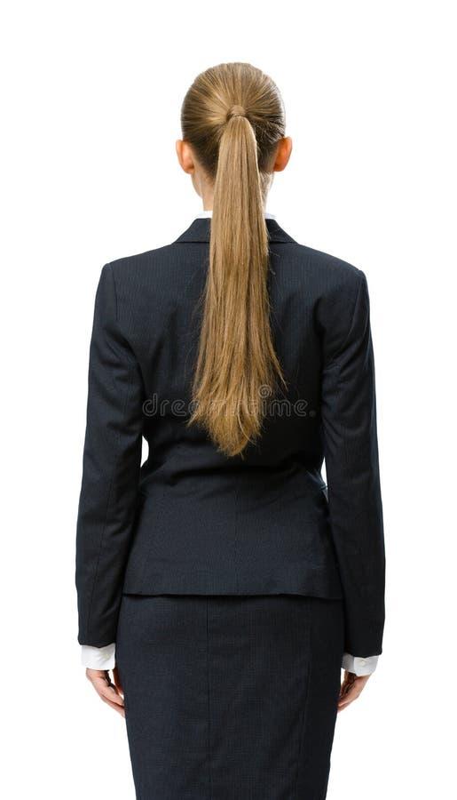 女实业家Backview  免版税图库摄影