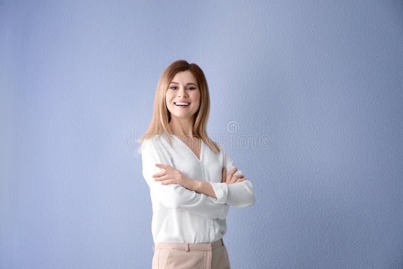 女性企业教练员 免版税库存照片