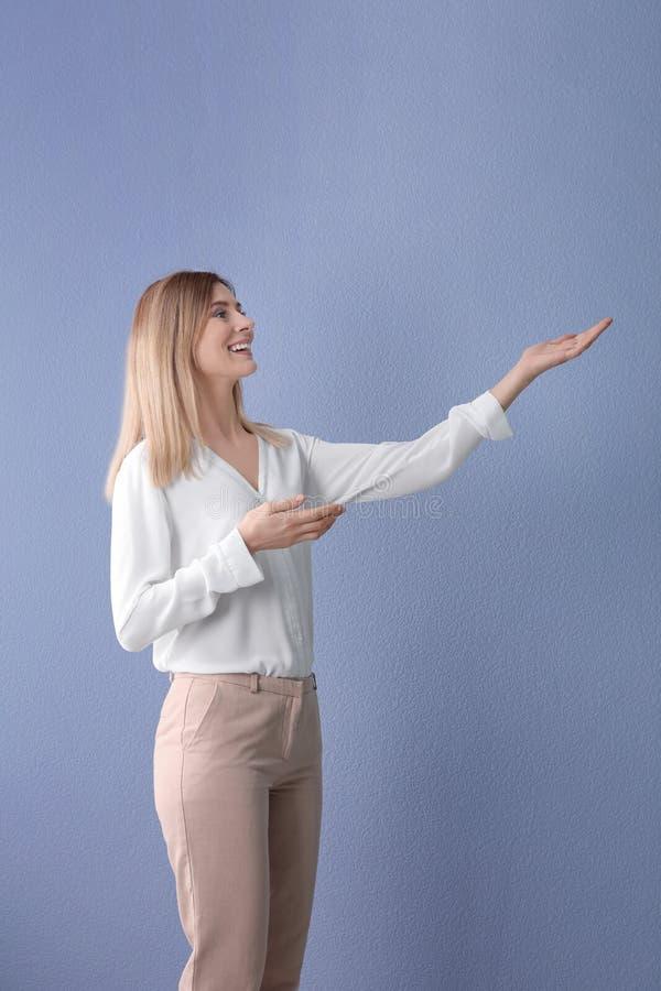 女性企业教练员 图库摄影