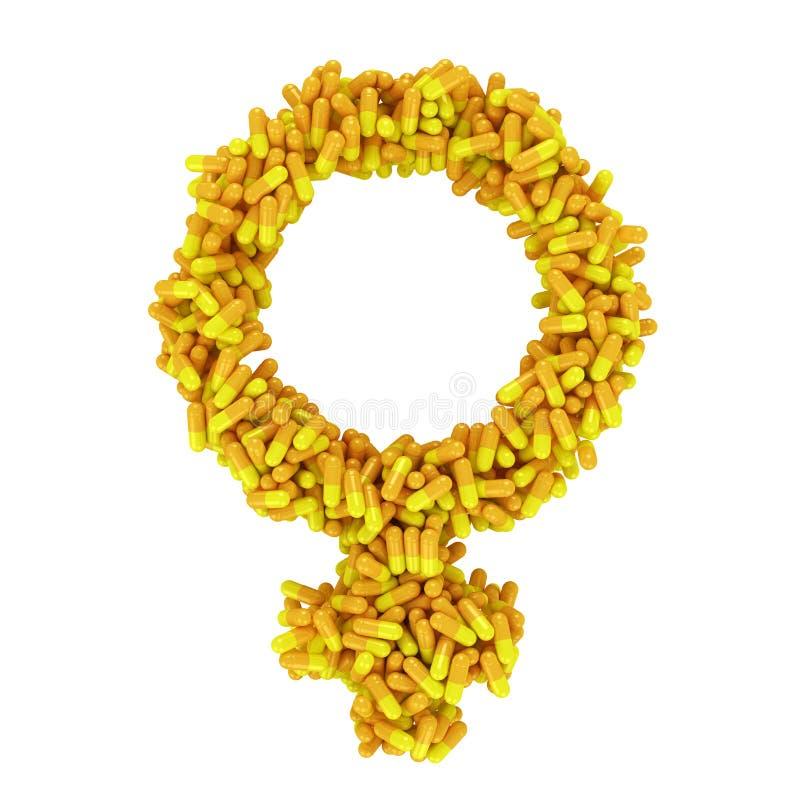 女性健康概念 皇族释放例证