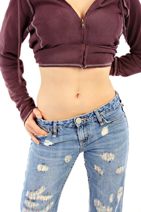 女性健康稀薄的腰部 库存图片