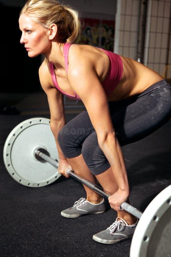 女性健身锻炼 免版税库存图片
