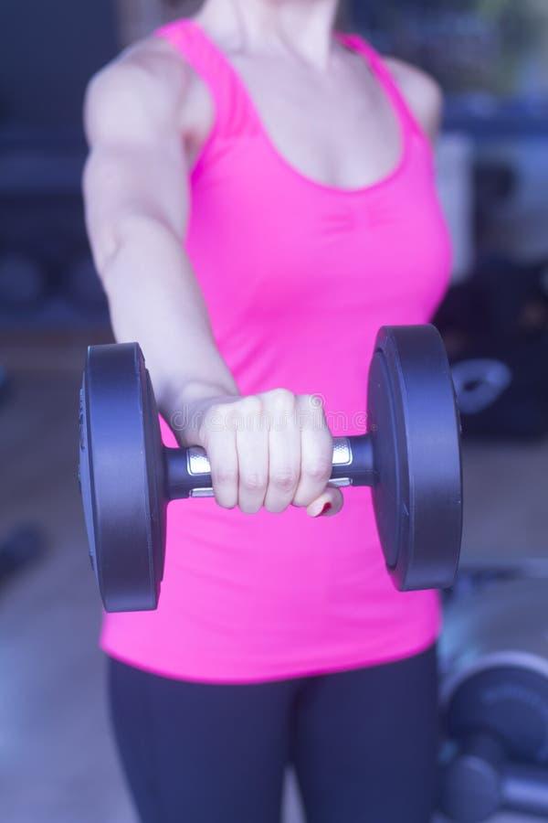 女性健身锻炼 免版税库存照片