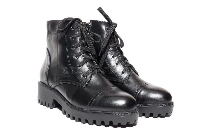 女性冬天皮鞋 免版税库存图片
