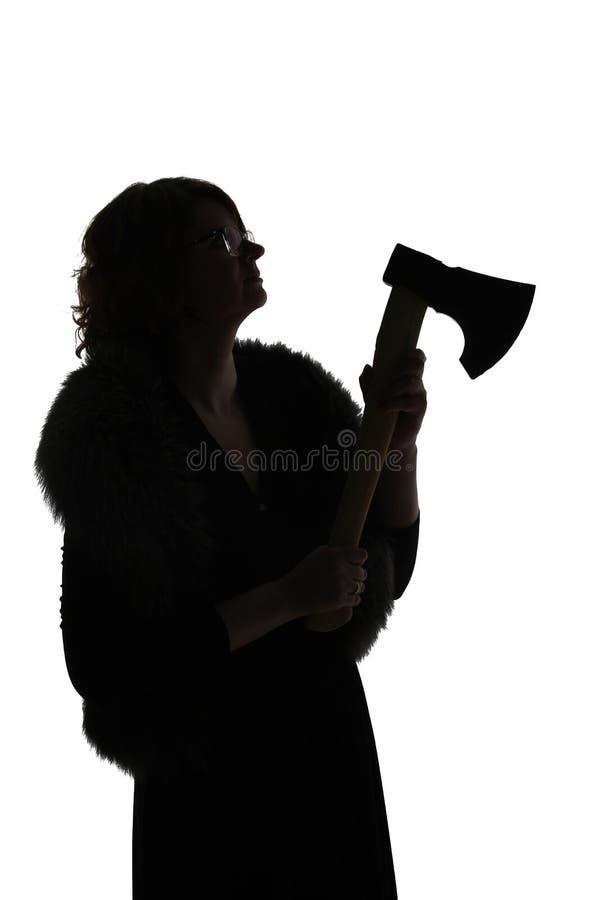 女性剪影 免版税库存照片