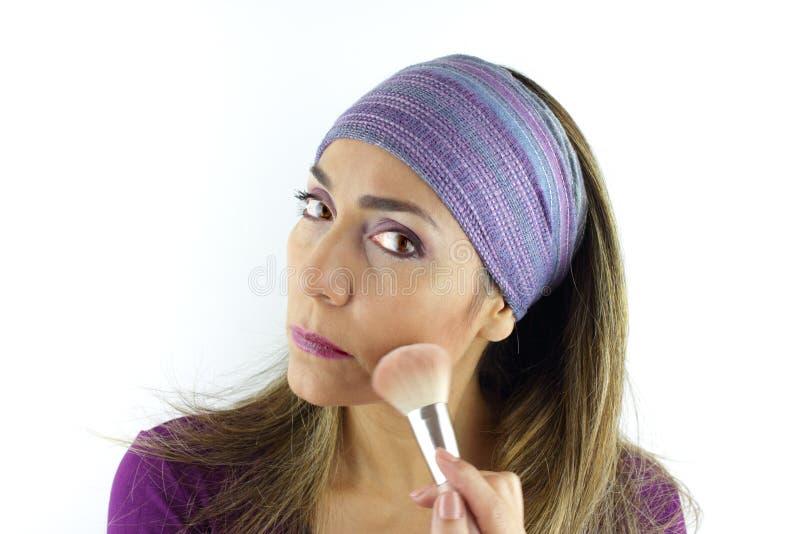 女性化妆 库存照片