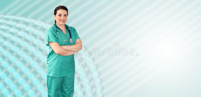女性医生画象 库存照片
