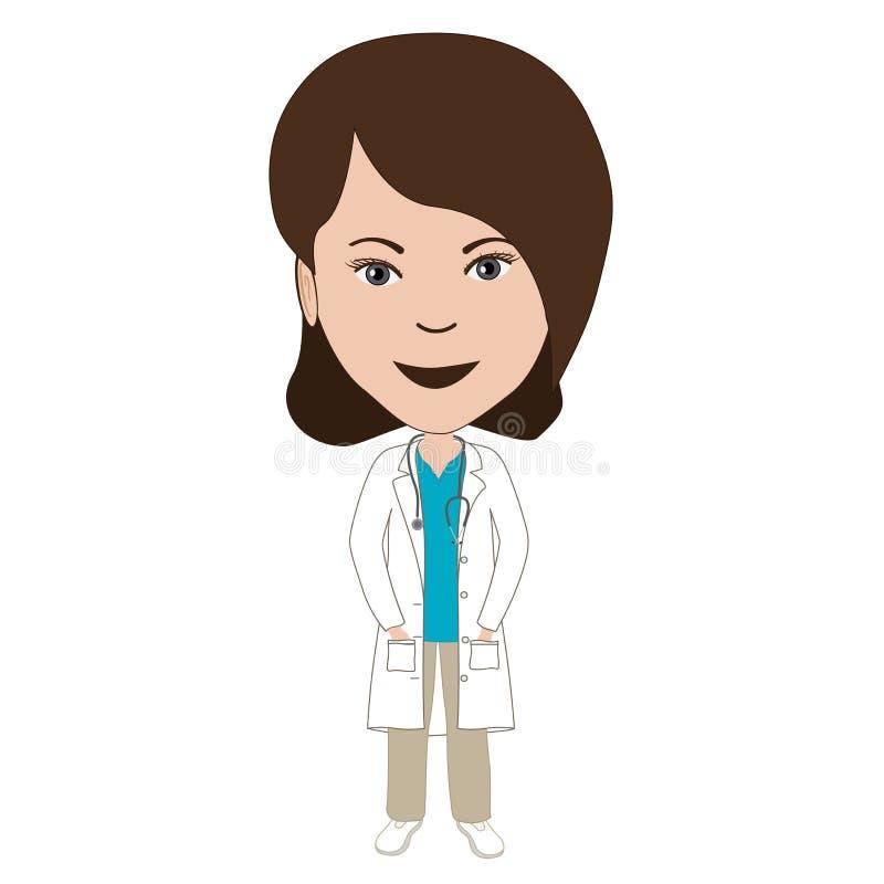 女性医生 库存例证