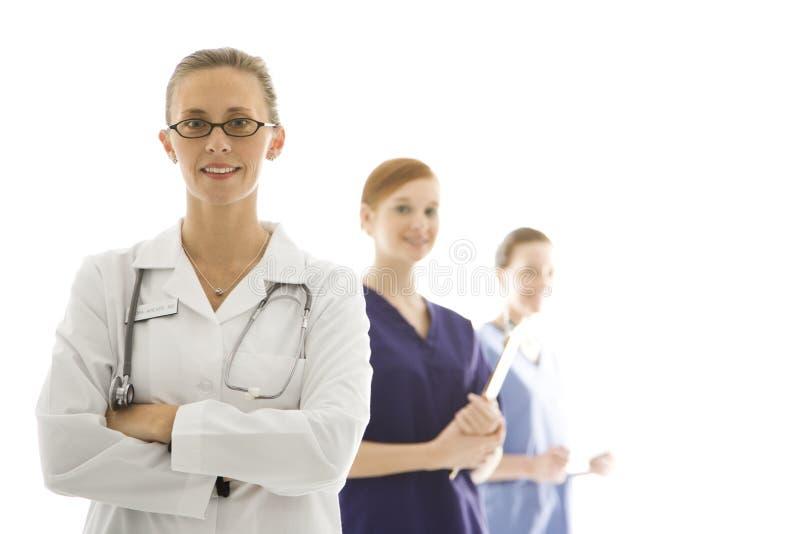 女性医疗保健工作者 库存照片