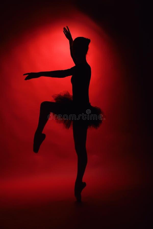 年轻女性古典跳芭蕾舞者  免版税库存图片