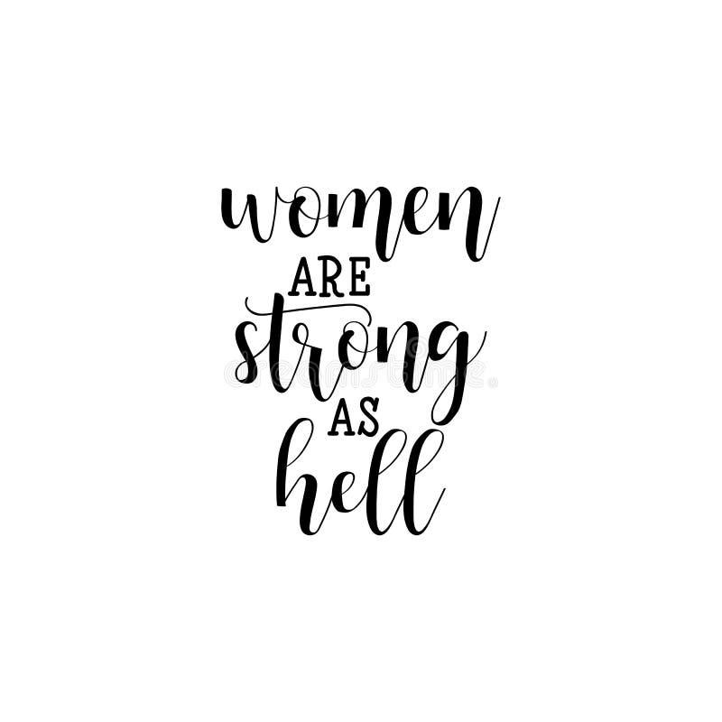 女性坚强 女权主义行情,妇女诱导口号 字法 10个背景设计eps技术向量 向量例证