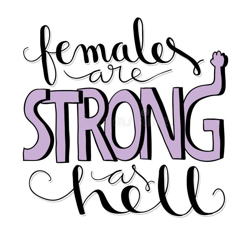 女性坚强 向量例证