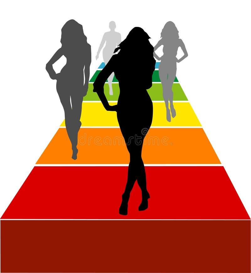 女性塑造向量 库存例证