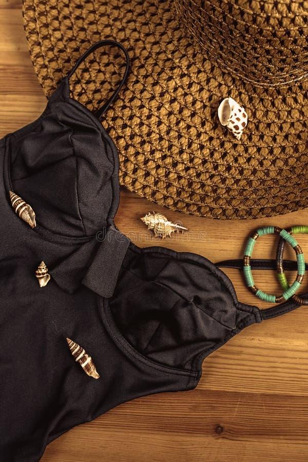女性夏天泳装 库存图片