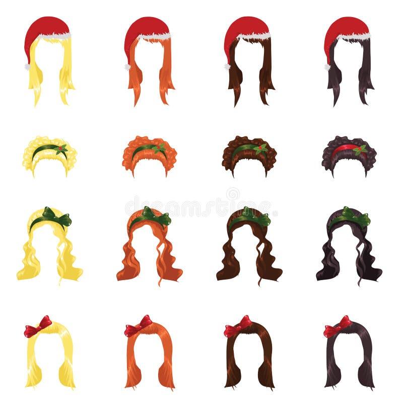 女性头发 库存例证