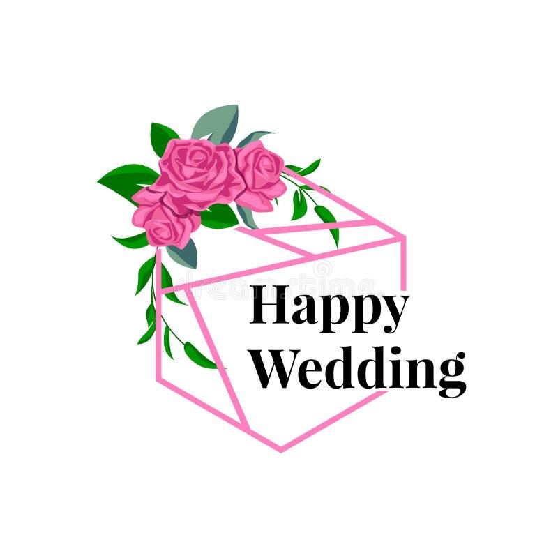女性婚姻的计划者模板商标标志 皇族释放例证