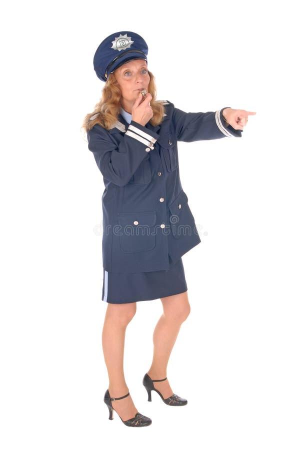 女性官员警察 免版税库存照片