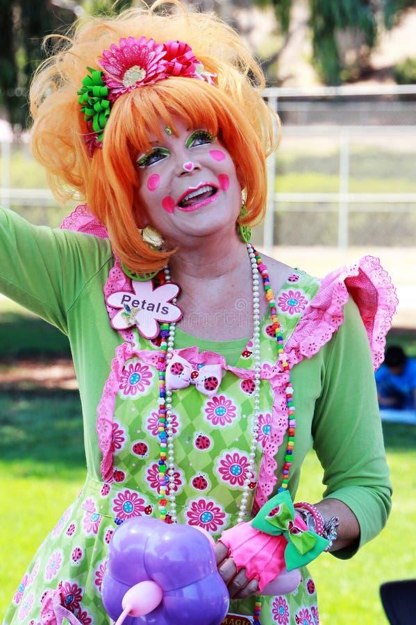 女性小丑 免版税库存图片