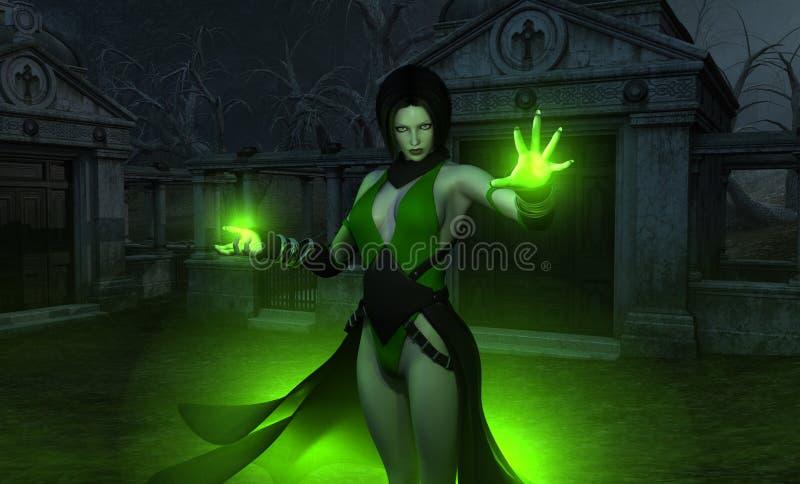 女性巫术师巫师 库存例证