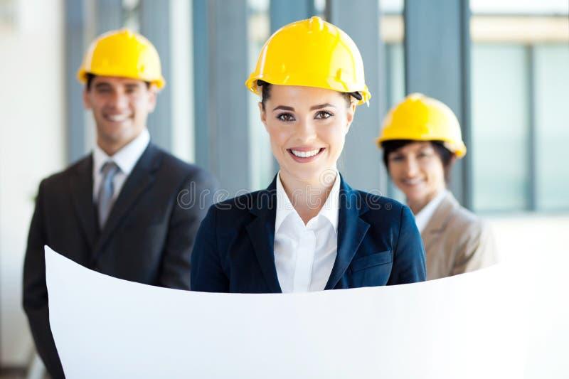 女性建筑师 免版税库存图片