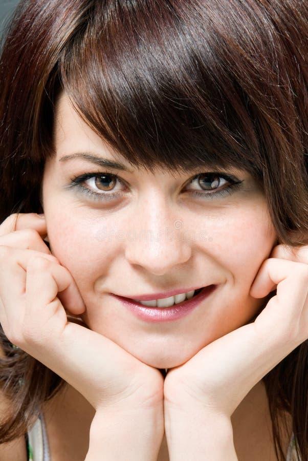 女性微笑的年轻人 库存照片