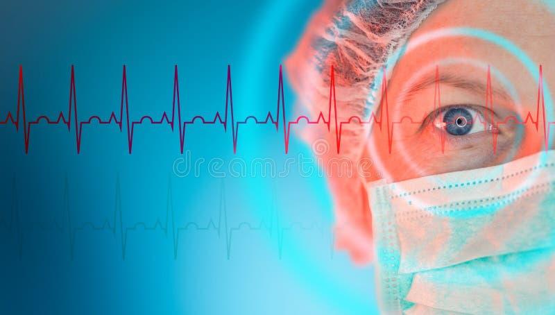 女性心脏科医师,心脏病学专家画象 免版税库存图片