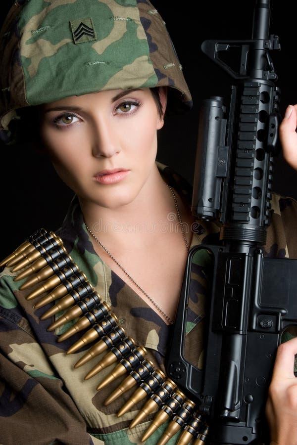 女性战士 库存照片