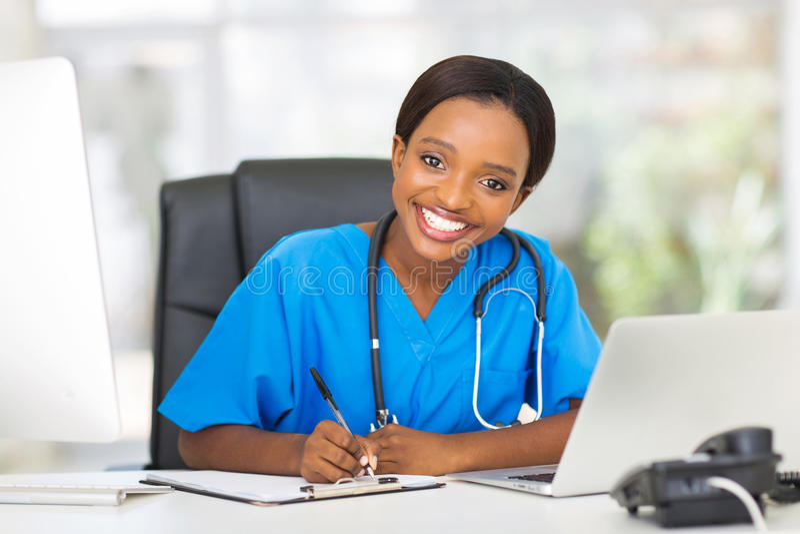 女性护士办公室 图库摄影