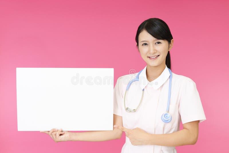 女性护士微笑 图库摄影