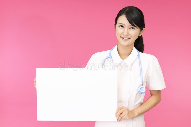 女性护士微笑 库存照片