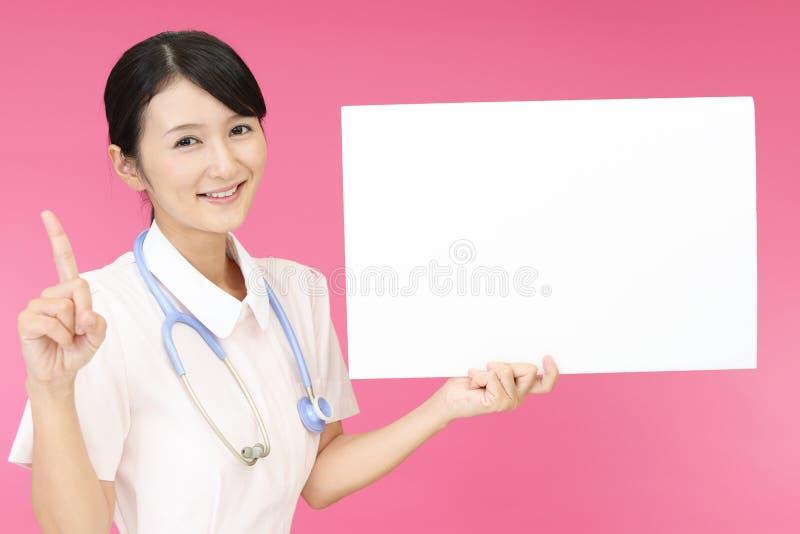 女性护士微笑 库存图片