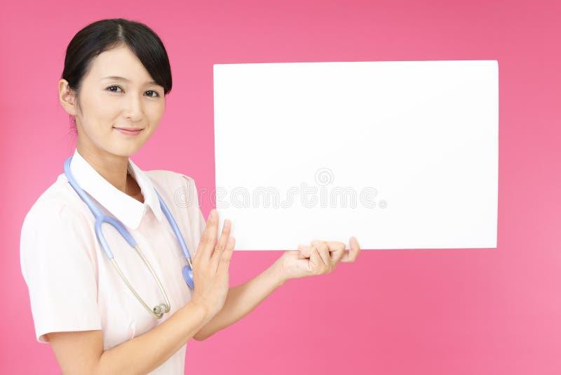 女性护士微笑 免版税图库摄影