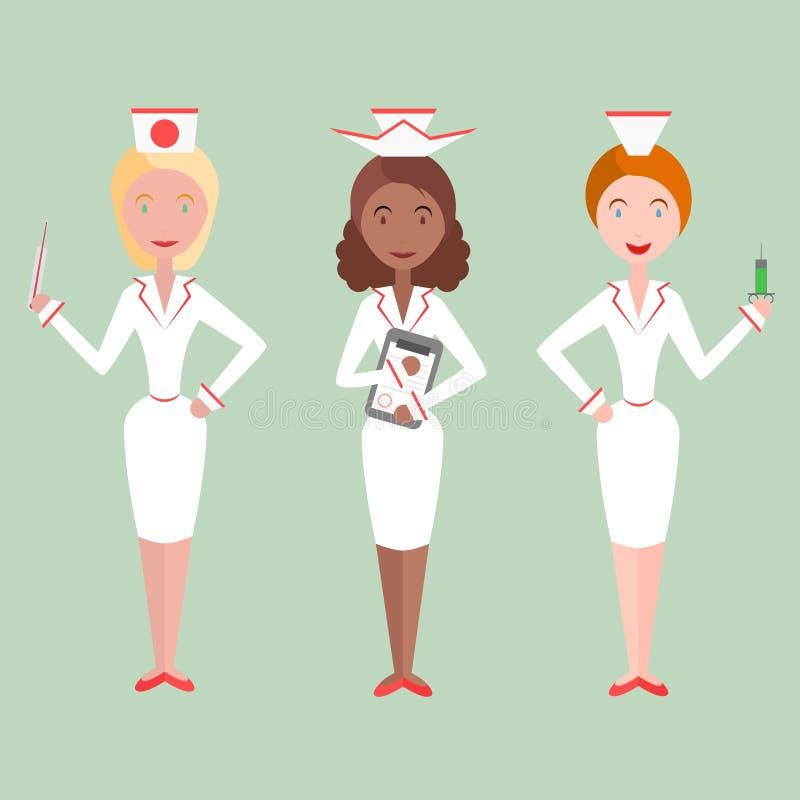 女性护士 向量例证