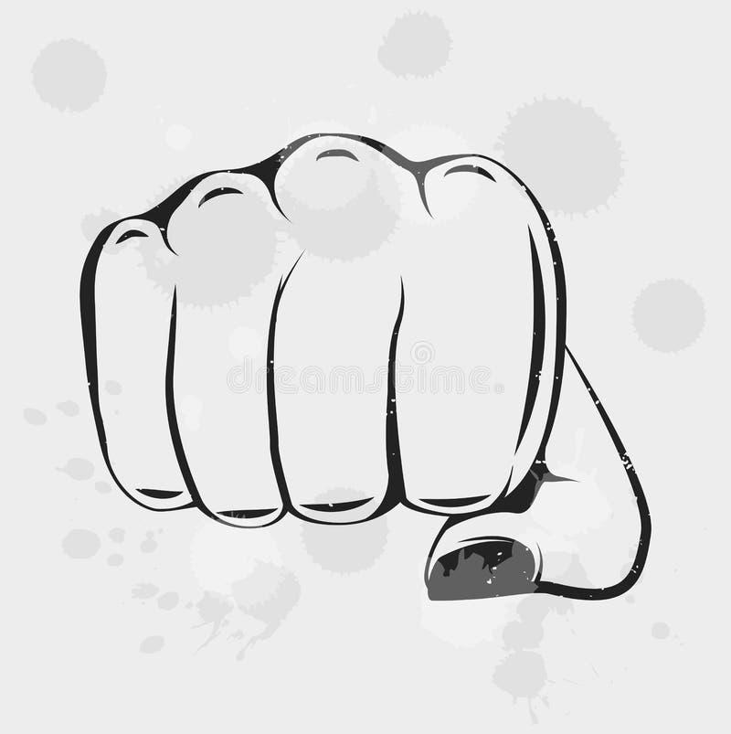 女性拳头妇女权利 女孩力量 查出的向量例证 向量例证