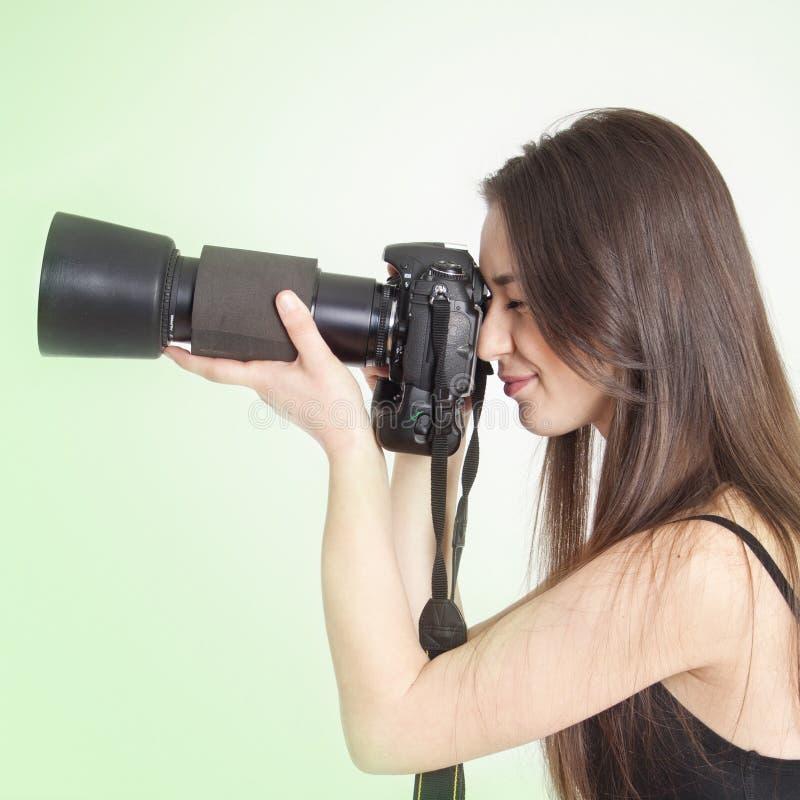 女性摄影师年轻人 库存照片