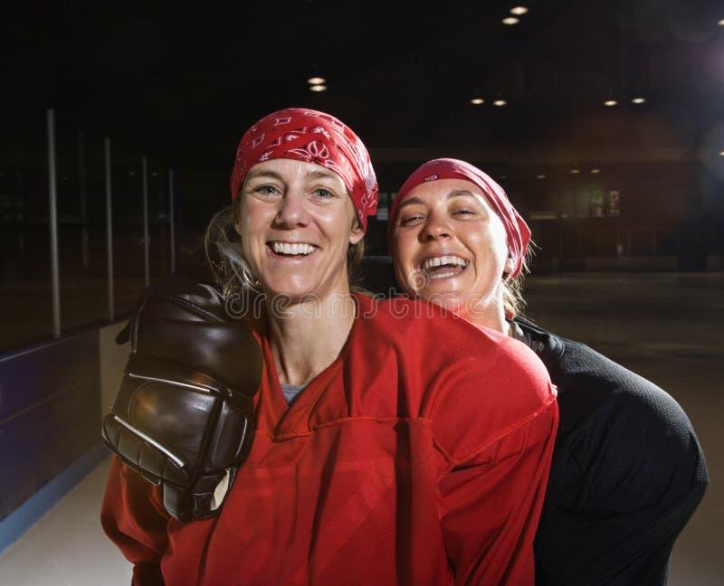 女性曲棍球运动员 库存照片