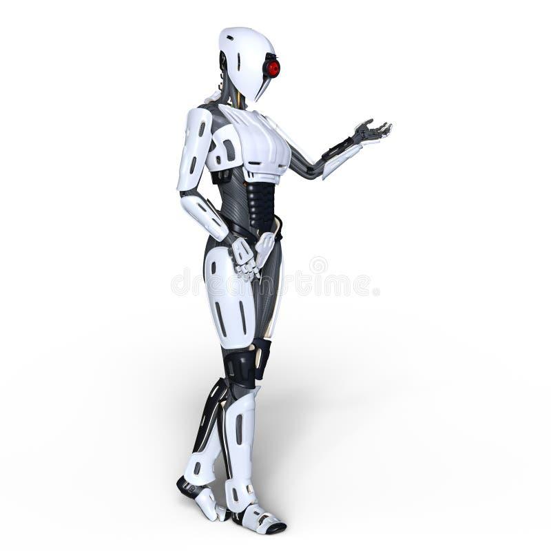 女性机器人 库存例证