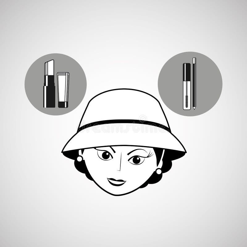 女性构成设计 皇族释放例证