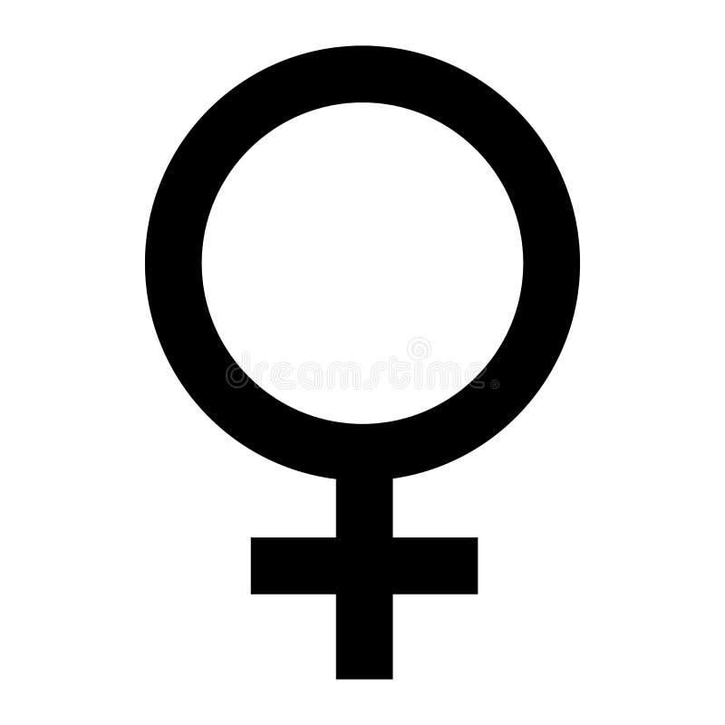 女性查出的符号白色 妇女性别标志 金星象 向量例证