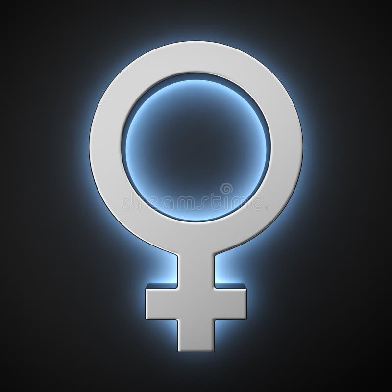 女性标志 皇族释放例证