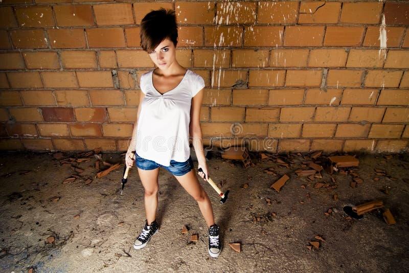 女性模型工具 免版税图库摄影