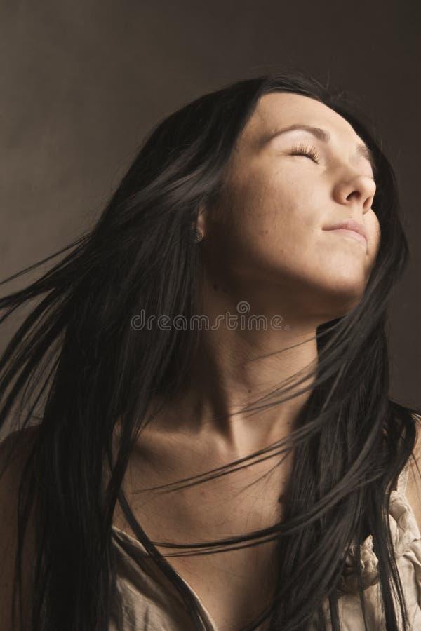 女性模型年轻人 免版税库存图片