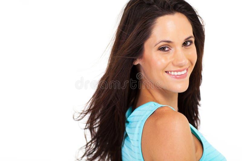 女性模型headshot 库存照片